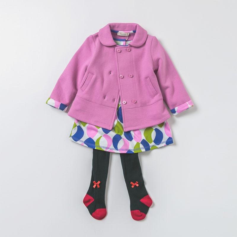 DB1743 davebella baby girl coats
