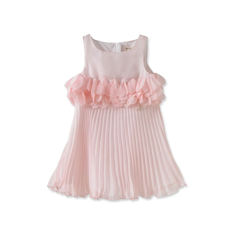 DB1890 davebella baby girl pleated skirt