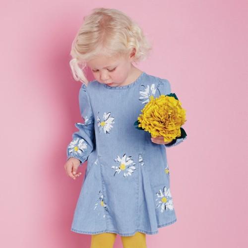 DB2032 davebella baby girl dress for spring