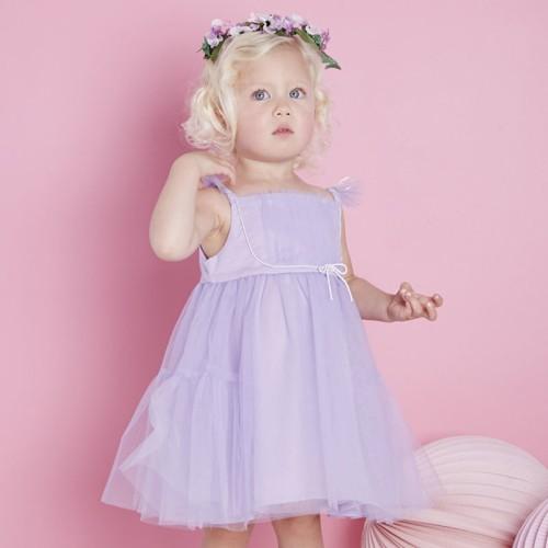 DB2160 davebella baby girl eleven pleated skirts