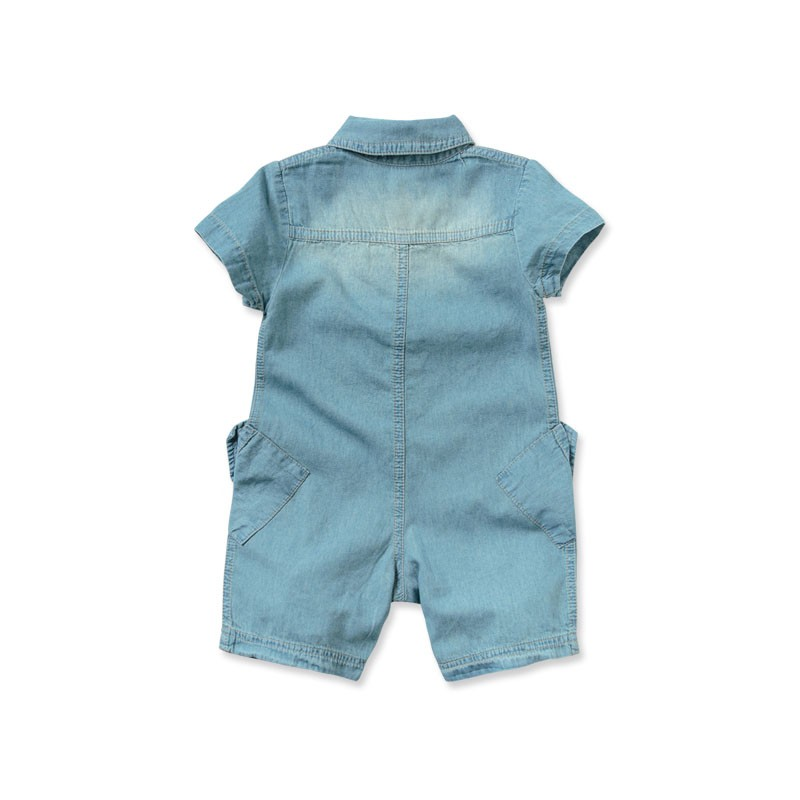 DB2626 davebella baby turn-down collar romper