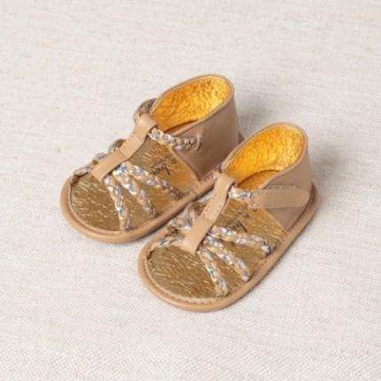DB2609 davebella baby sandal with magic tape