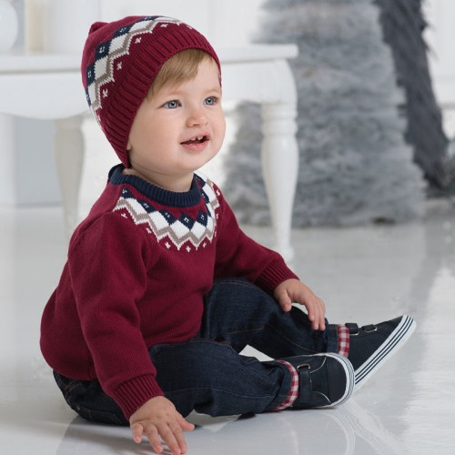 DB1220 davebella baby knitted sweater