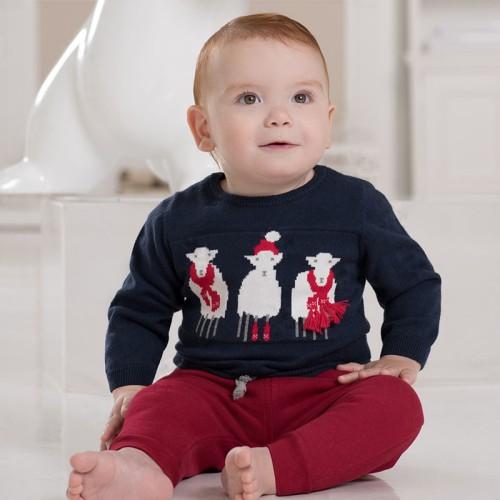DB1819 davebella baby printed sweater